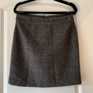 Banana Republic grey tweed work skirt